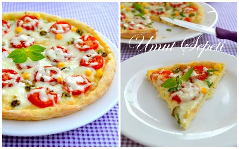 kaşarlı pizza,pizza tarifleri,kolay pizza