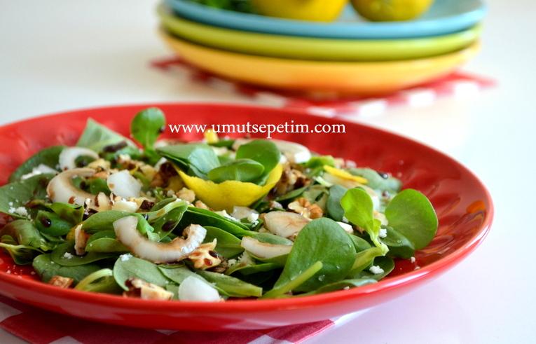 diyet salatası,cevizli salata,salata tarifleri,pratik salatalar,dukan diyeti