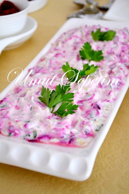 yoğurtlu salata tarifi,salata tarifleri,umutsepetim,diyet salata tarifleri