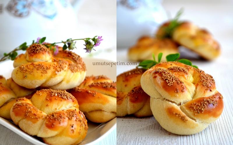 Mahlepli Düğüm Çörek Tarifi