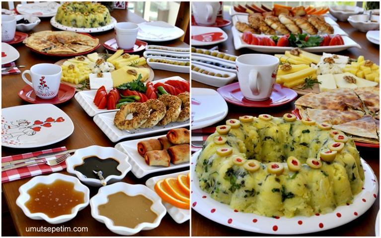 Kahvaltı  Soframız  Ve  Patates  Salatası Tarifi