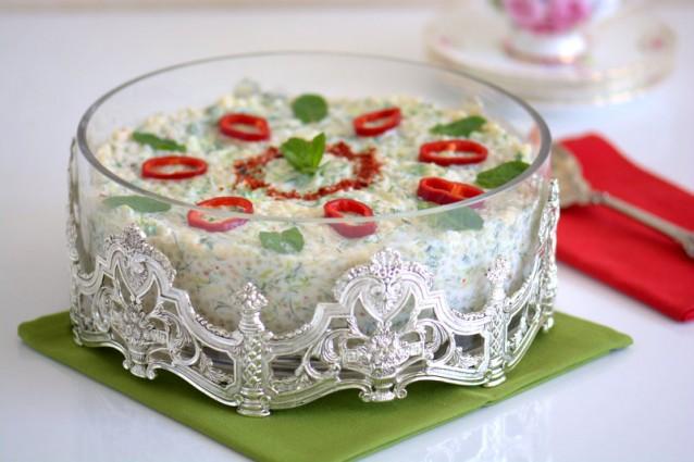 Kabaklı Yoğurtlu Kuskus  Salatası ( Videolu  Tarif )