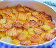 Fırında  Tereyağlı  Çıtır  Patates
