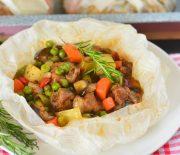 Kağıtta  Sebzeli  Bohça  Kebabı