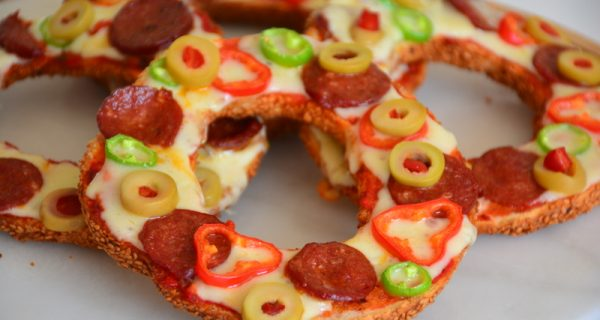 Çok Pratik  Simit  Pizza